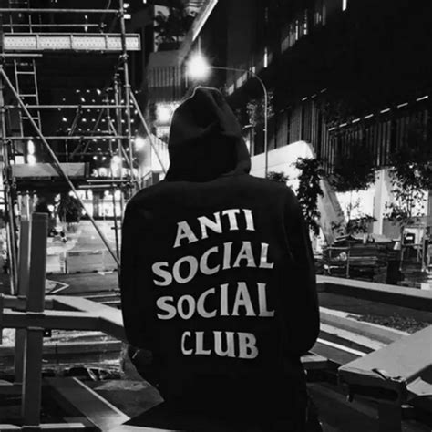 Hoodie Assc Anti Social Social Club Real Picture autumn boy assc anti social social club hoodie