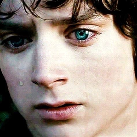 elijah wood eyes frodo s sadness btw those beautiful blue eyes are real