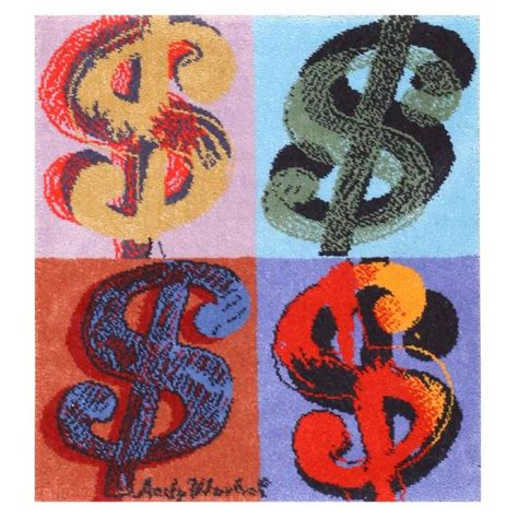 Andy Warhol Rug by Andy Warhol Dollar Sign Vintage Rug At 1stdibs