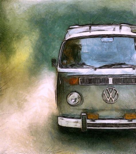 volkswagen bus painting volkswagen cer van photograph by michelle calkins