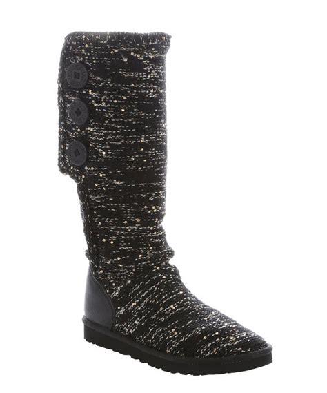 zwarte rib boot lyst ugg black rib knit wool and sequin classic cardy
