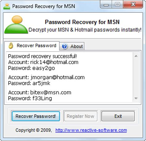Msn Finder Msn Password Finder Instantly Find Msn Passwords