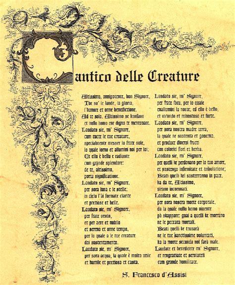 il cantico delle creature testo la comunicazione analizzo un testo poetico quot il cantico