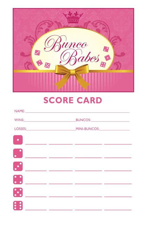 bunco template score cards bunco printable bunco score and table card set