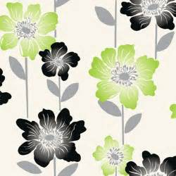 Coloroll margarita floral wallpaper lime green black cream m0541