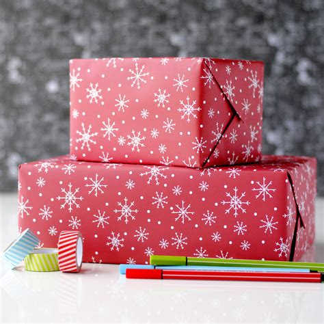snowflake christmas wrapping paper the green gables