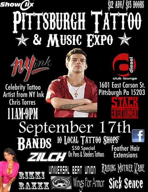 chris torres tattoo tickets for pittsburgh and expo in pittsburgh