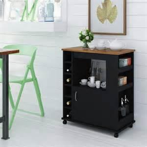 kitchen beverage cart black and pine walmart com ehemco kitchen island cart with natural wood top walmart com
