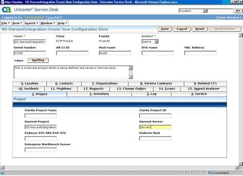 Ca Service Desk service desk user tasks ca