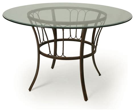 Pastel Victoria 48 Inch Round Glass Dining Table In Legacy 48 Inch Glass Dining Table
