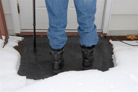 new heated snow and ice removal mats provide safe outdoor