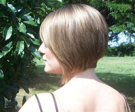 front and back views of short bob hairstyles angled bob pictures show front and back view