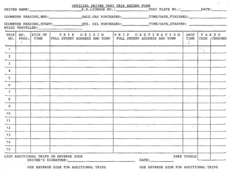 driver log book template best photos of drivers daily log sheet drivers daily log