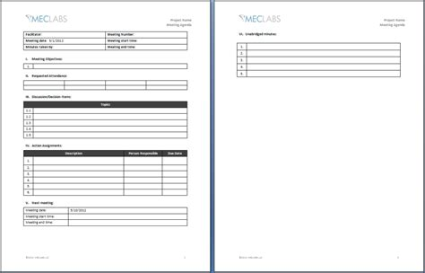 meeting format template one on one meeting agenda template 3 best agenda templates