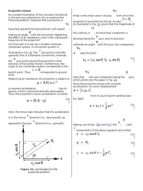 Projectile Motion Word Problems Worksheet With Answers