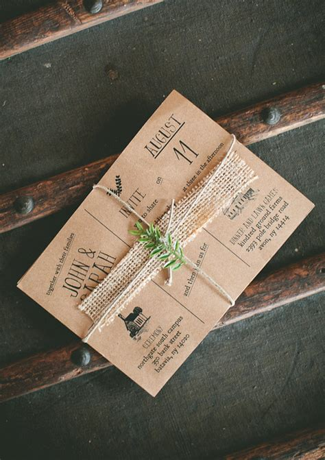 diy rustic wedding invites diy barn wedding and real weddings 100