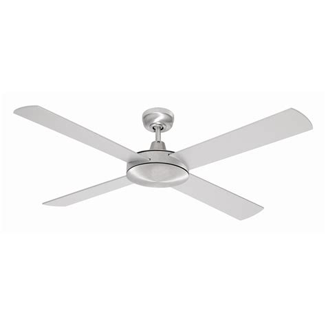 Bunnings Ceiling Fans With Lights Mercator 130cm Brushed Steel 4 Blade Grange Ceiling Fan Bunnings Warehouse