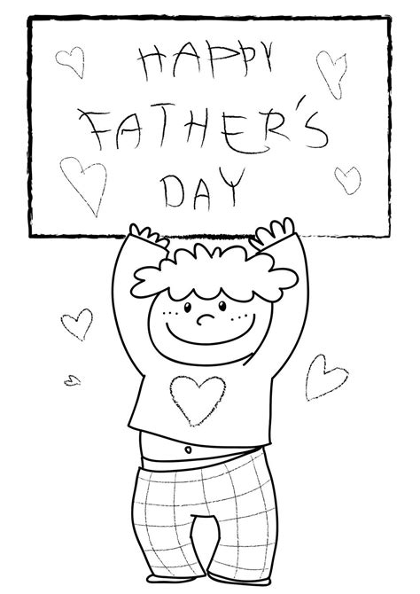 coloring pages father s day printable happy fathers day coloring pages free large images