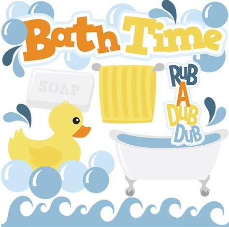 Baby Duck Bathtub Bath Time Svg Cut Files Bath Svg Files For Scrapbooking