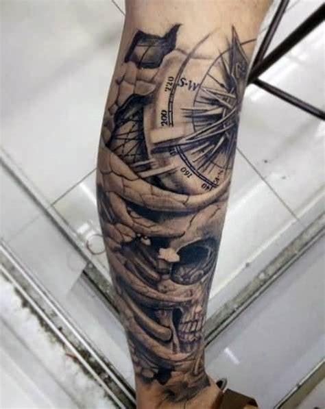tattoo compass leg 13 black and grey compass tattoos