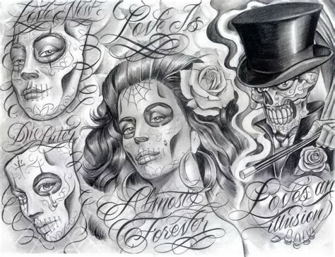 chicano tattoo design 13 chicano designs