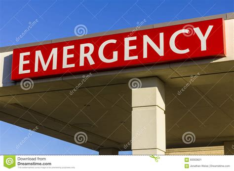 Lu Emergency emergency entrance sign for a local hospital xiii