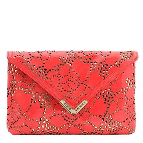coral laser cut clutch accessories laser