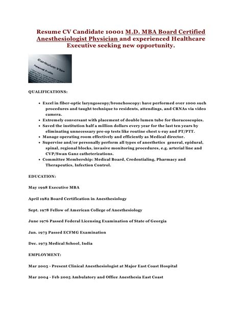 Surgical Tech Resume Sle by Anesthesiologist Cover Letter 28 Images Surgical