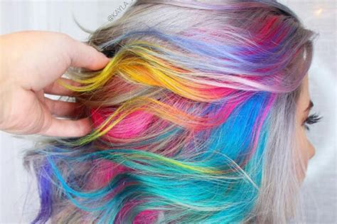 color hair styles 28 cool rainbow hair color ideas trending for 2018