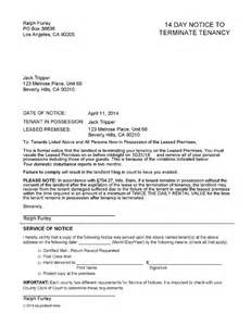 14 day eviction notice template wisconsin 14 day notice to vacate ez landlord forms