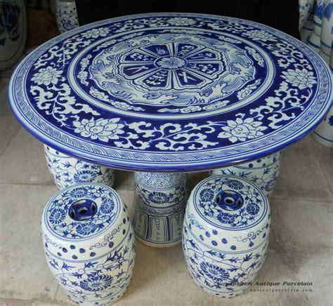 Blue White Porcelain Garden Stool by Ryay25 Blue And White Porcelain Garden Table And Stool