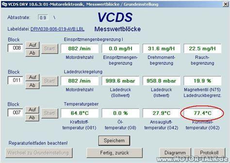 Vcds Audi by Vcds Kuehlmitteltemperaturgeber G62 Audi A4 B6