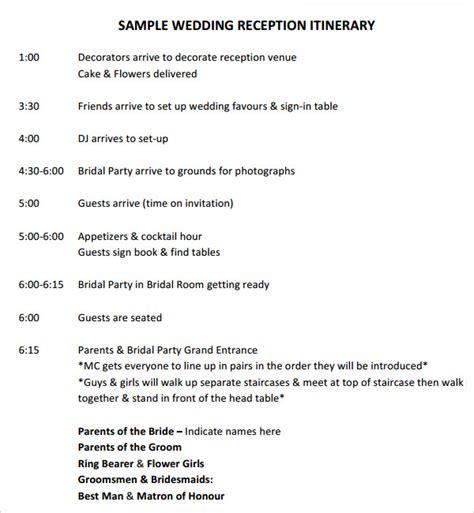 wedding timeline template      sample templates