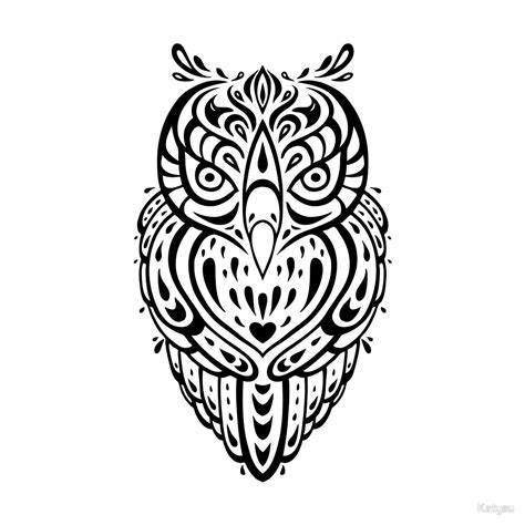 pattern animal tattoo 50 best tribal owl tattoo ideas designs