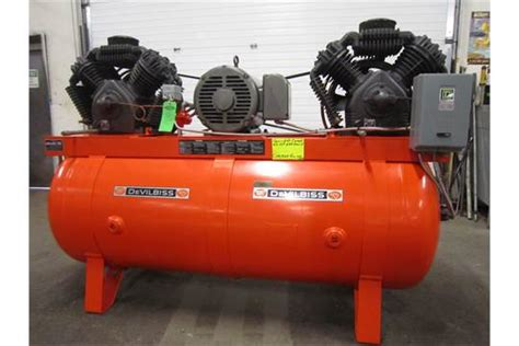 devilbiss 25hp air compressor model vax 5080 with horizontal tank