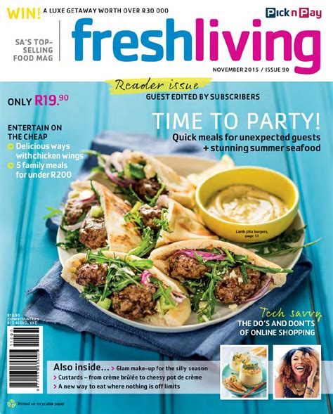 fresh living fresh living november 2015 by pick n pay issuu