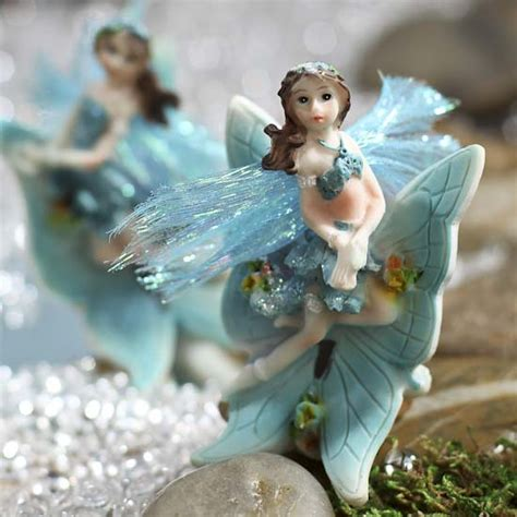 miniature turquoise fairy on sale craft supplies