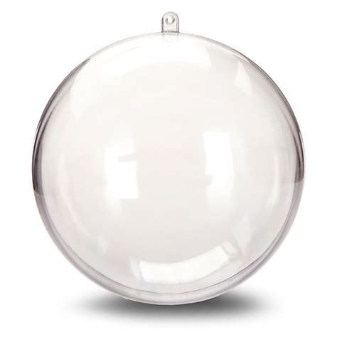 large clear plastic ornament balls 140mm