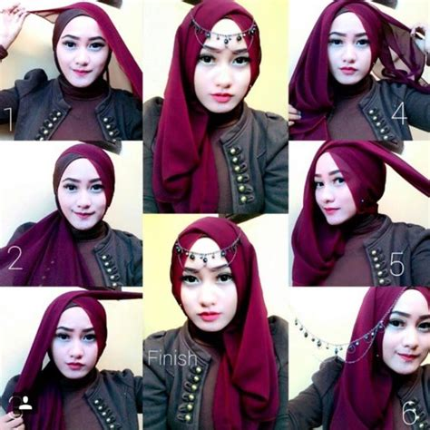 tutorial hijab pashmina bahan sifon tutorial hijab pashmina sifon simple model baju dan