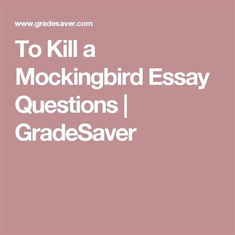 key themes of to kill a mockingbird 15 must see essay questions pins college organization