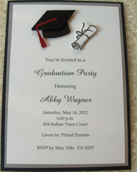 Graduation Announcement Template Card graduation invitations search graduation
