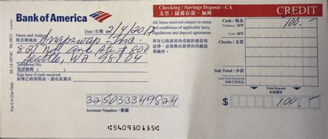 Bank Of America Deposit Slip To Print Autos Post | bank of america deposit slips printable html autos post