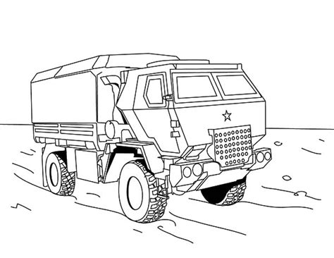 coloring pages of army trucks car coloring pages military off road truck army sketch