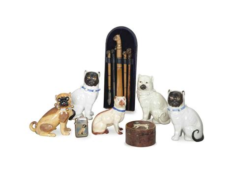 themed desk accessories a collection of pug themed desk accessories late 19th