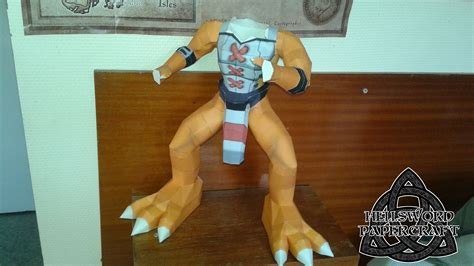 wargreymon papercraft wip and arms by