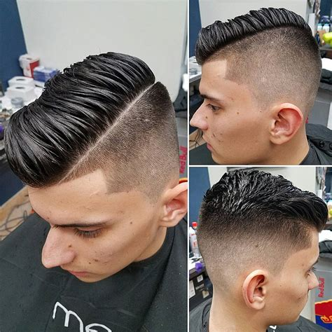 naturals salon boys combover comb over fade haircuts