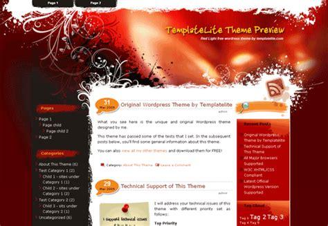 themes wordpress red 5 beautiful new wordpress themes