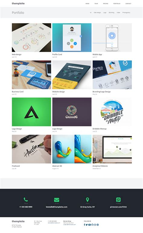 bootstrap 3 html website template thempleite on behance