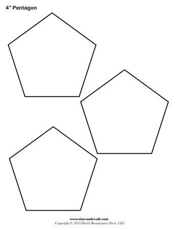 pentagon template pentagon template 4 inch tim de vall