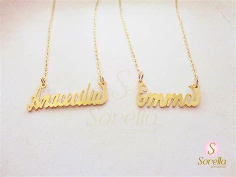 cadenas con nombre oro cadena con nombre en chapa de oro nombres personalizados